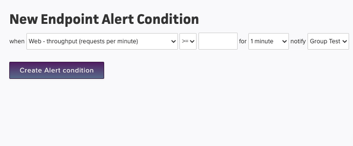 Create alert condition