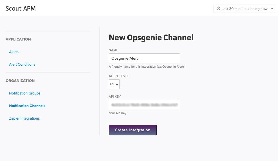 Create Opsgenie Integration
