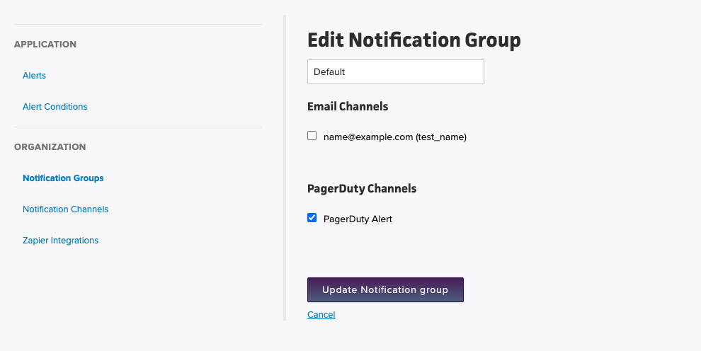 Add PagerDuty To Group