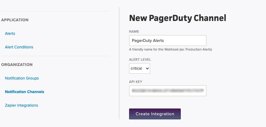 Create Pagerduty Integration